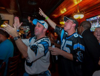 Carolina Fans Celebrate NFC South Win